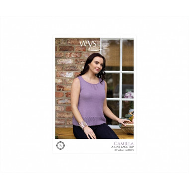 Camilla - Lace weight pattern for an A Line Top | West Yorkshire Spinners