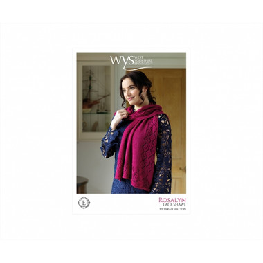 Rosalyn - Lace weight pattern for a shawl | West Yorkshire Spinners