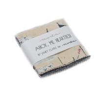 Ahoy Me Hearties Fabric Patterns   Janet Clare   Moda Fabrics   Charm Pack - Main Image