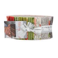 Blushing Peonies | Robin Pickens | Moda Fabrics | Jelly Roll Fabric Pack - Main image