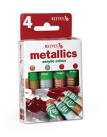 Reeves | Acrylic Colours | Trend Pack | Metallics | 4 x 10ml - Main Image