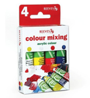 Reeves | Acrylic Colours | Trend Pack | Colour Mixing | 4 x 10ml - Main Image