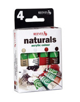 Reeves | Acrylic Colours | Trend Pack | Naturals | 4 x10 ml - Main image