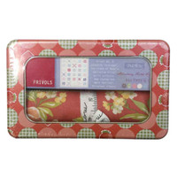 Moda Fabric Frivol Tin No. 6 - Strawberry Fields Revisited by Fig Tree & Co - Main Image