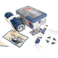 Moda Fabric Frivol Tin No. 12 - Classic featuring Blue Barn Fabric   Patchwork Project in a Tin - Whats in the Tin
