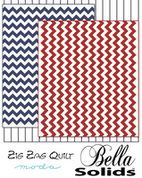 Zig Zag Quilt | Bella Solids | Moda Fabrics | Free Downloadable Pattern
