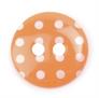 Spotty Buttons 15 mm   Orange & White