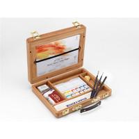 Winsor & Newton Artist Professional Water Colour Half Pans Bamboo Box Artist Set - Main Image