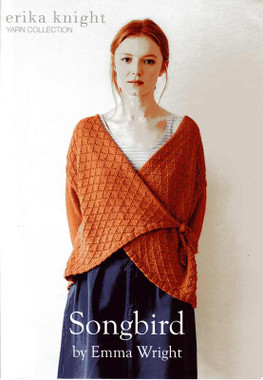Songbird DK Knitting Pattern for a Wrap over Cardigan | Erika Knight
