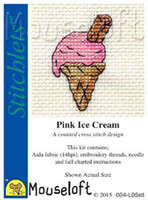 Stitchlets | Food and Drink Series | Pink Ice Cream