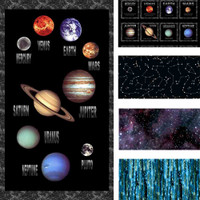 Cosmic Space Planets & Stars 100% Cotton Fabric | Blank Quilting | Main Image