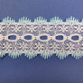 Eyelet Knitting in Lace 30mm - various colours | Baby Blue