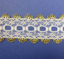 Eyelet Knitting in Lace 30mm - various colours | Gold