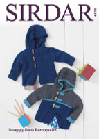 Baby Boys Duffle Coat | Sirdar Snuggly Baby Bamboo Dk | 4936
