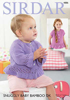 Lace edge Top and Jacket | Sirdar Snuggly Baby Bamboo Dk | 4886 - Main Image