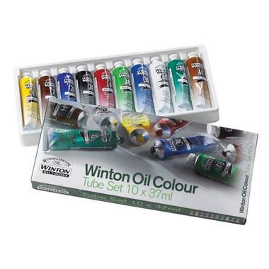 Winsor & Newton Winton Oil Colour Art Set   Set of 10 Oil Paints   37ml Tubes - Main Image
