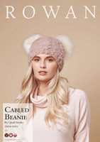 Free Cabled Beanie Hat for Rowan Cosy Merino Chunky - Main Image