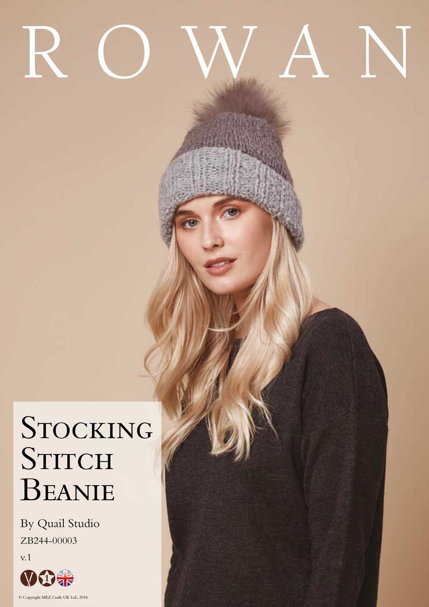 Stocking Stitch Beanie Hat Pattern  7503f229111
