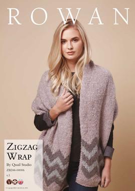 ZigZag Wrap pattern for Rowan Cosy Merino Chunky yarn - main image