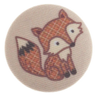 Fabric covered W/land Fox Buttons - 34 mm | 54 lignes