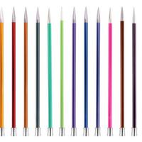 KnitPro Zing Metal Knitting Needles   Single Point   35cm Long - Main Image