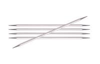 KnitPro Nova Cubic Double Pointed Metal Needles   Set of 5   20 cm Long - Main Image
