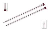 KnitPro Nova Metal Straight Single Point Needles | 25 cm Long - Main Image