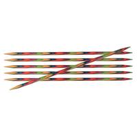 KnitPro Symfonie Double Pointed Wooden Needles | Set of 6 | 15 cm Long - Main Image