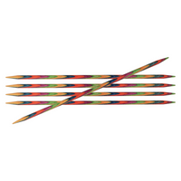 KnitPro Symfonie Double Pointed Wooden Needles | Set of 5 | 15 cm Long - Main Image