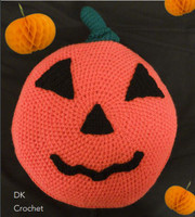 Robin DK Pumpkin Cushion Freen Downloadable Knitting Pattern | Robin DK Yarn - Main Image