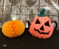 Robin DK Pumpkin Tea Cosy Free Downloadable Knitting Pattern   Robin DK - Main Image