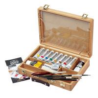 Winsor & Newton Artists Acrylic Colours Bamboo Box Artist Set - Main Image
