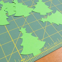 Stix 2 | Diecut Card Shapes | Christmas Tree with Star | 15 Pieces - Main Image