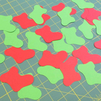 Stix 2 | Diecut Card Shapes | Stocking Shapes | 15 Pieces - Main Image