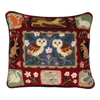 Jolly Red | Arts and Crafts Owl Tapestry Kit