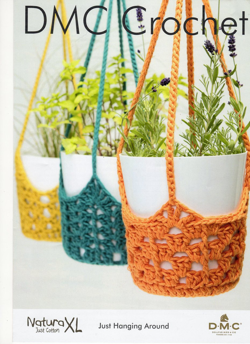 Crochet Pattern For Plant Hangers Dmc Natura Xl 15602l2