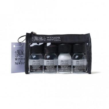 Winsor & Newton Zip Bag, 4 Small Acrylic Mediums Set - Main Image