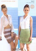 Crocheted Skirts DK Knitting Pattern | Sirdar Cotton DK 7077