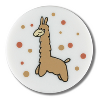 Dill Buttons | Llama with bubbles Buttons | 18mm