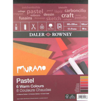 Daler Rowney Murano Pastel Pads | Warm Colours| various sizes