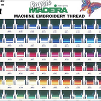 Madeira Rayon No. 40 Machine Embroidery Threads, 200m Spools | Various Colours