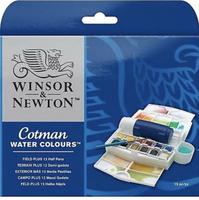 Winsor & Newton Cotman Watercolour Field Plus Paint Art Set
