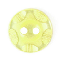 Pinched Wave Texture Button | Yellow | 14mm
