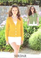 Knitted Cardigans DK Knitting Pattern | Sirdar Cotton DK 7084