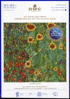 DMC Farm Garden with Sunflowers | Gustav Klimt | Cross Stitch Kit (BK1812 1/3)
