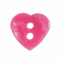 Pink heart shaped buttons | 12 mm / 20 linges