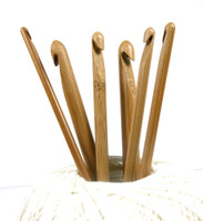 Pony Bamboo 15cm Long Crochet Hooks | Various Sizes, 2 mm to 10 mm