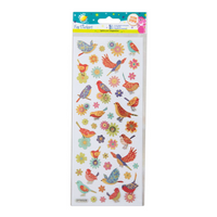 Craft Planet | Fun Stickers | Birds & Flowers