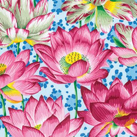 Blue Leopard Lotus | Spring 2016 Collection | Kaffe Fassett Fabrics