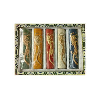 Chinese Ink Sticks | Set of 5 Colours | Green, Yellow Red, White & Blue